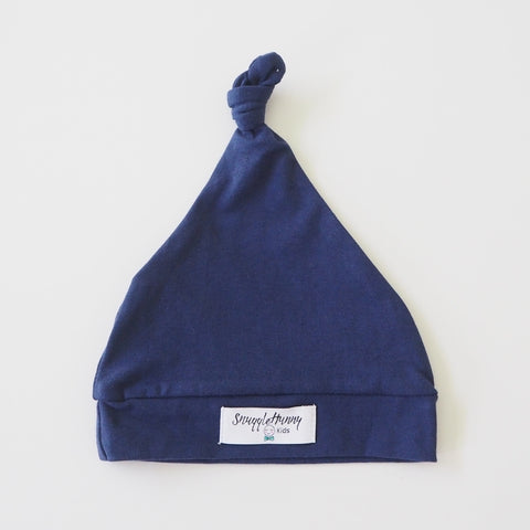 Baby - Knotted Beanie - Navy