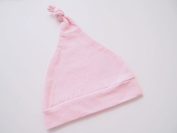 Baby - Knotted Beanie - Baby Pink