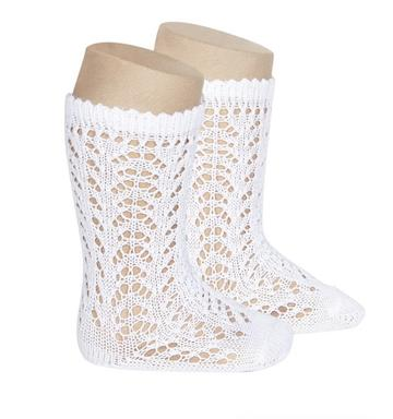 Condor Full Crochet Knee High Sock - White (200)