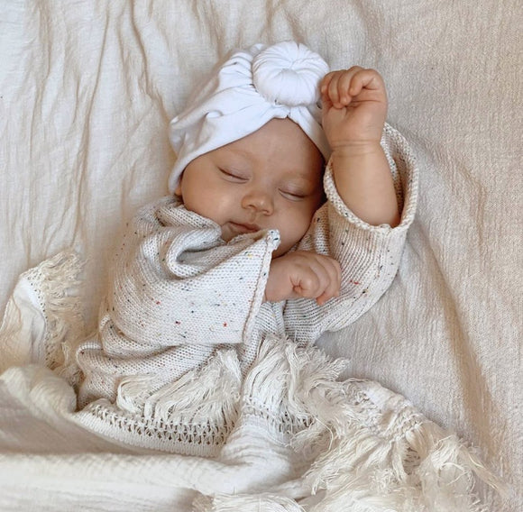 Fringe Swaddle - Cream with Cream Fringe