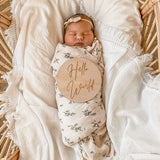 Fringe Swaddle - Cream with Cream Fringe (PRE ORDER EARLY OCTOBER)