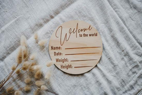 "Baby - ""Welcome To The World"" Birth Announcement Disk"