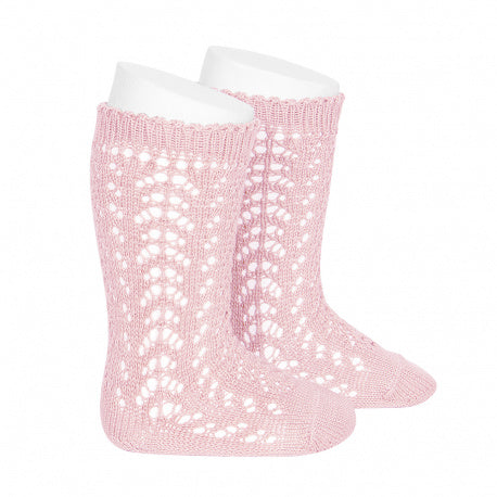 Condor Full Crochet Knee High Sock - Baby Pink (500)
