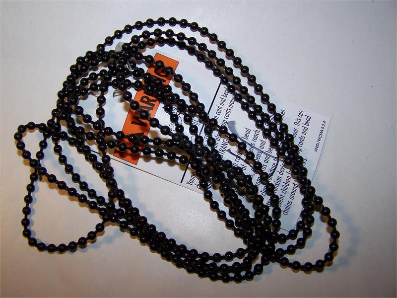 Rollease #10 Plastic 6mm bead chain continuous chain loop BLACK - Wholesale Blindparts