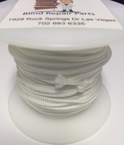 1.8mm Lift Cord used in Wood, Faux Wood Blinds - WHITE - Wholesale Blindparts