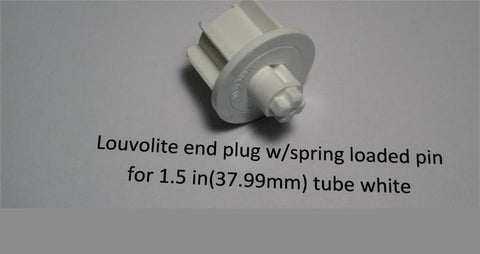 Louvolite End Plug SPRING LOADED FOR 1.5 INCH TUBE - Wholesale Blindparts