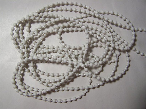 Rollease #10 Plastic 6mm bead chain continuous chain loop WHITE - Wholesale Blindparts