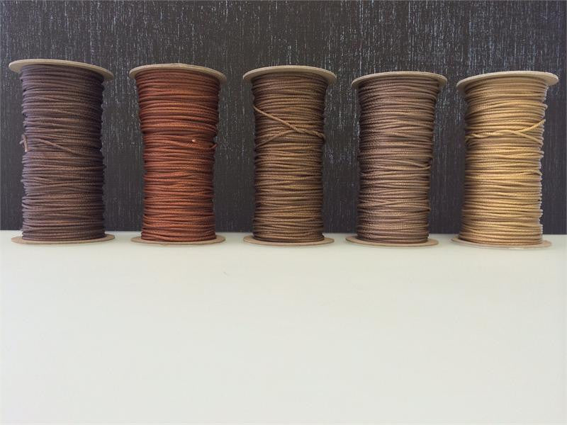 300ft Roll of 2.2mm Lift Cord BROWN select color Left to Right - Wholesale Blindparts