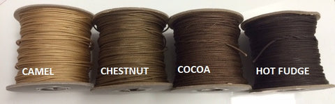1.8mm Lift Cord for Wood/Faux Blinds - ASSORTED BROWN - Wholesale Blindparts