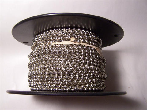 Rollease #10 Nickel plated steel bead chain 100 foot roll - Wholesale Blindparts