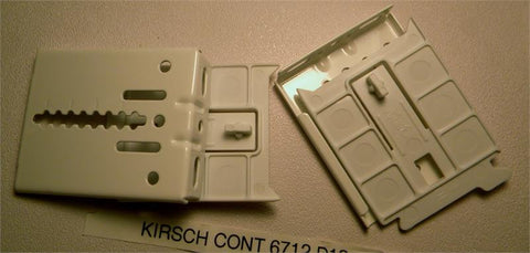 Kirsch Continental II 6712-d12 brackets (pair)(LEV-D3) - Blindparts.com