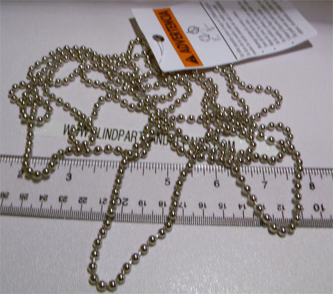 Louvolite Nickel Steel Chain -Sold by the foot, + 1 CONN -ONLY FOR LOUVOLITE GEARS!! - Wholesale Blindparts