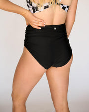 Black Ruched High Rise Bottom