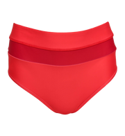 floating ghost picture of bright red modest swimsuit bottom