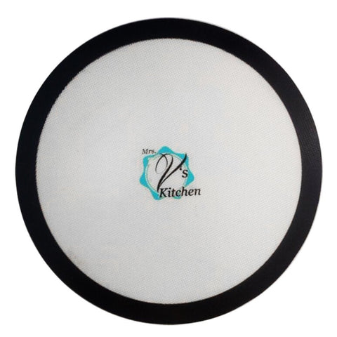 Round Non Stick Silicone Baking Mat 15 And 12 Inch Pizza