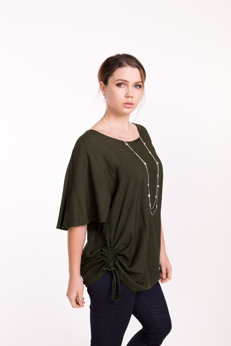 Draw String Rayon Top