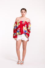 Load image into Gallery viewer, Floral Sabrina Top
