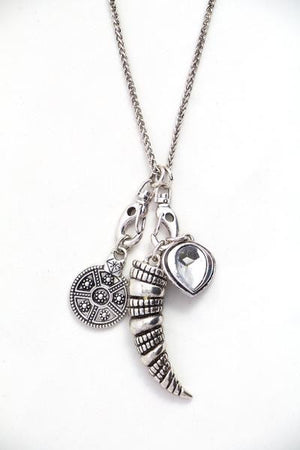 Silver Necklace with Removable Charms