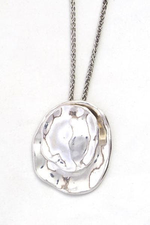 Basic Silver Pendant Necklace