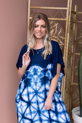 Blue Days Kaftan Dress