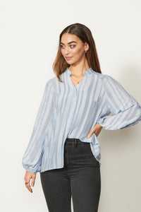 Textured Stripe Shirt