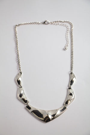 Modern Short Silver Necklace