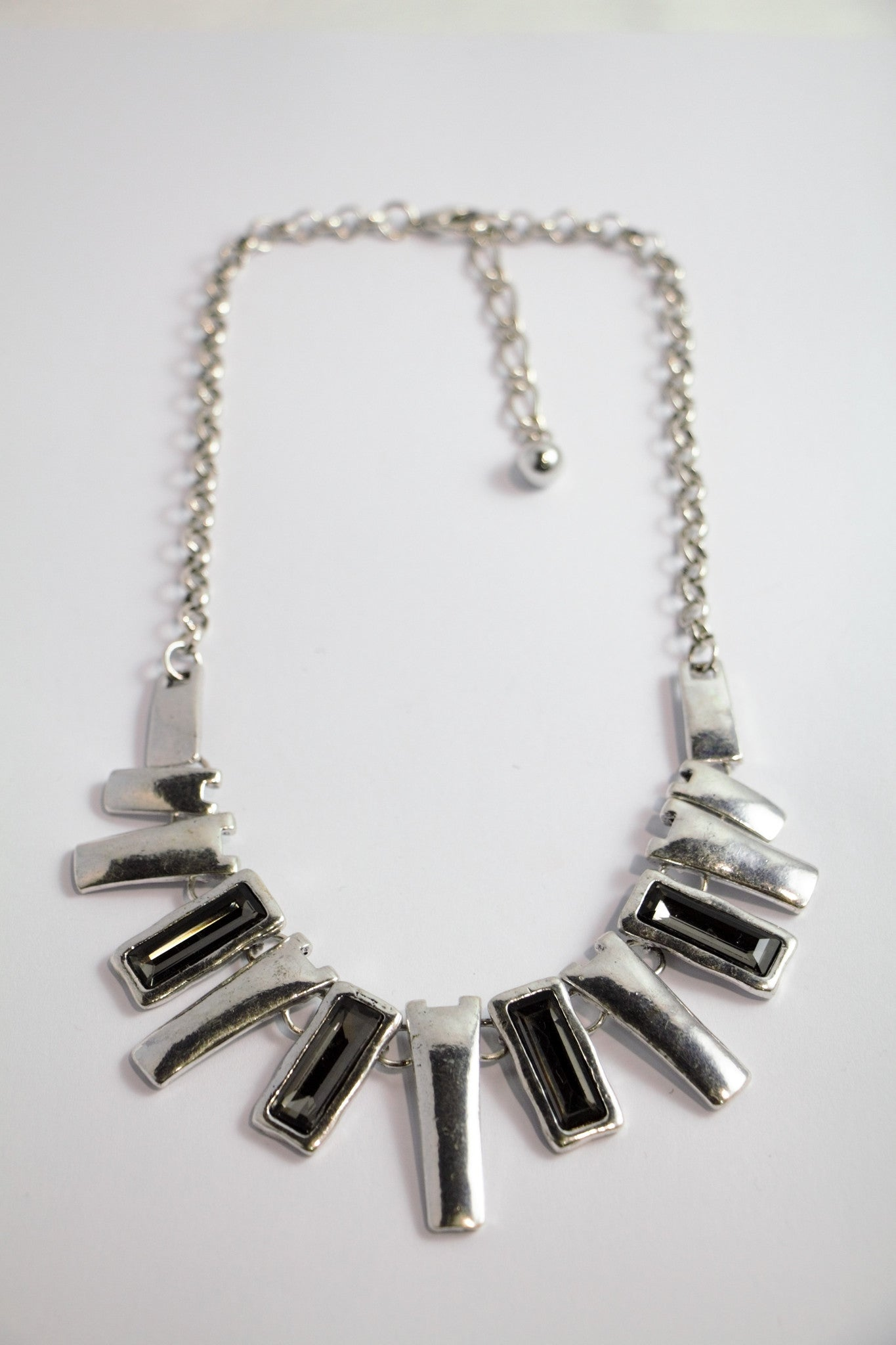 Silver Statement Short Necklace