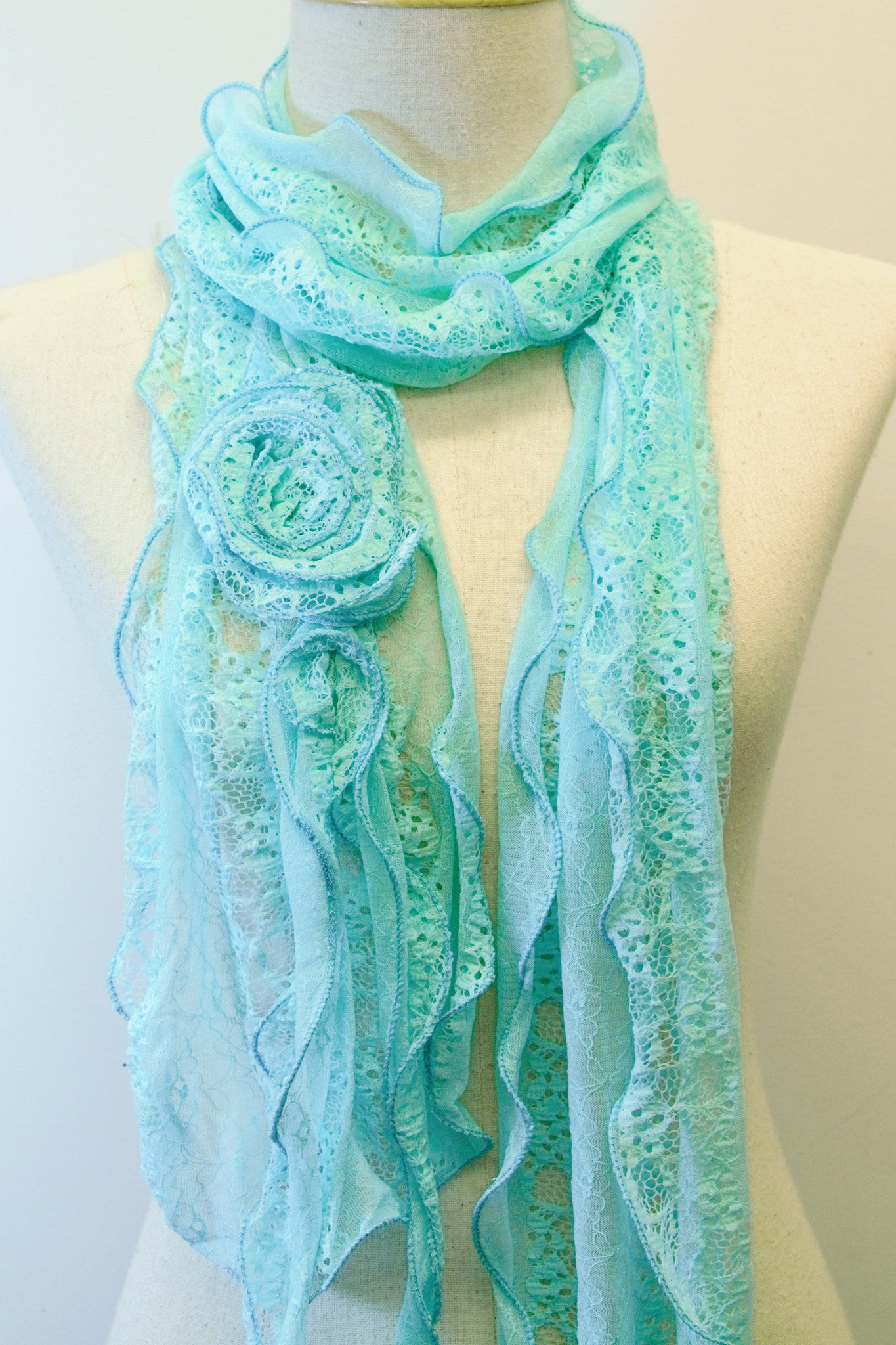 Lace Rose Scarf