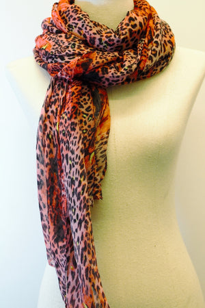Cotton Animal Printed Scarf