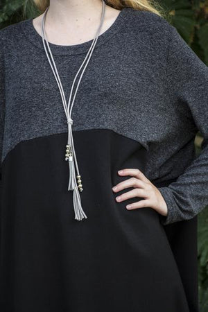 Leather Tassle Necklace