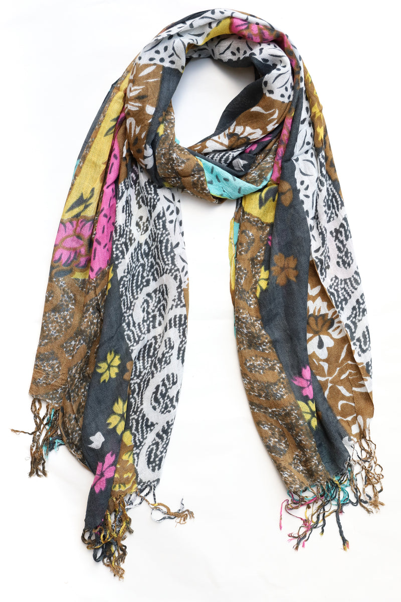 Abstract Cotton Scarf