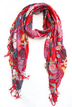 Load image into Gallery viewer, Flower Print Scarf