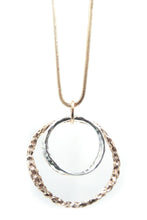 Load image into Gallery viewer, Rose Gold Hoop Necklace