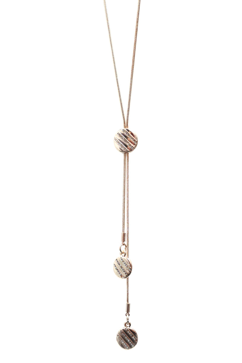 Rose Gold Droplet Necklace