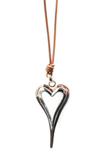 Load image into Gallery viewer, Rose Gold & Silver Heart Necklace