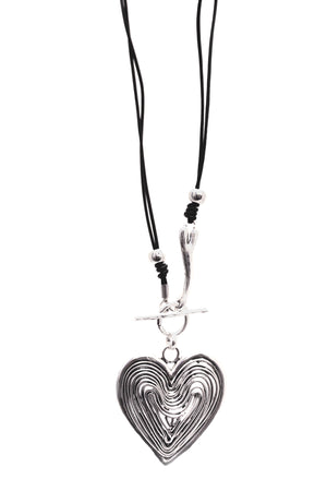 Wire Heart Pendant Necklace