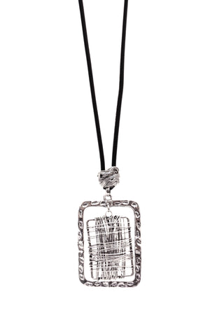 Square Wire Necklace