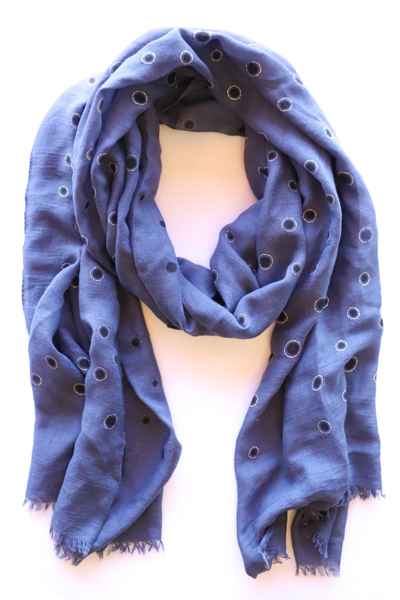 Metallic Polka Dot Scarf