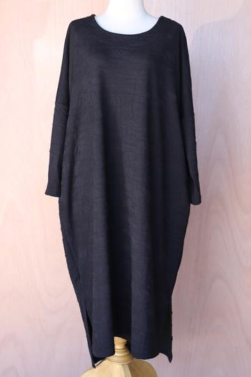 Embossed Long Sleeve Dress