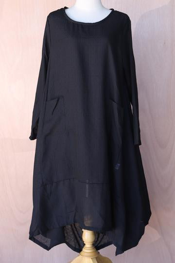 Drawstring Back Dress