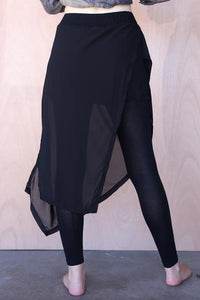 Chiffon Overlay Tights