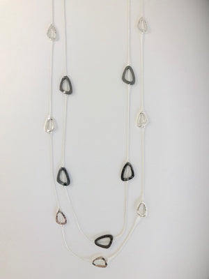 Double Strand Geo Beaded Necklace