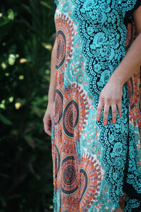 Sleeved Swing Dress Mandala