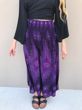 Load image into Gallery viewer, Peacock Feather Boho Pants