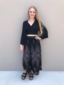 Peacock Feather Boho Pants