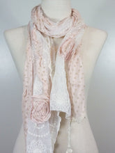 Load image into Gallery viewer, Lace Flower Scarf
