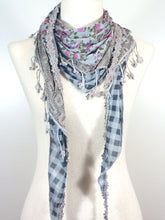 Load image into Gallery viewer, Triangle Cotton Layer Scarf