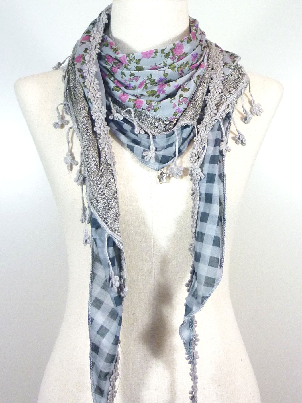 Triangle Cotton Layer Scarf