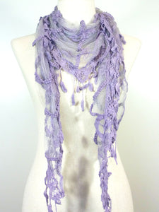 Lace Leaf Scarf