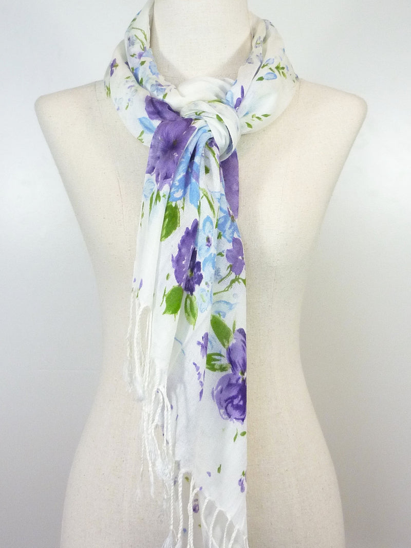 Cotton Pansy Scarf